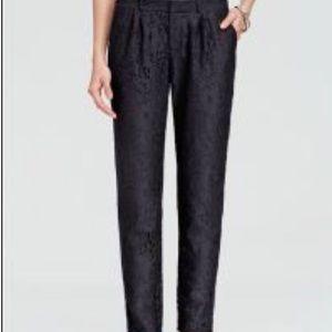Joie Black Lace Lined Trouser Pants